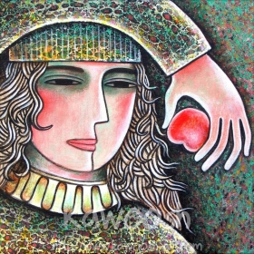 Girl with the Red Apple, 2013